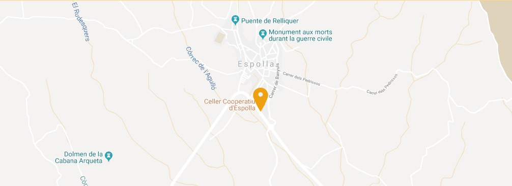 Celler Espolla a Google Maps